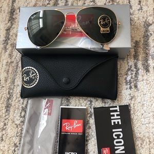 Ray Ban RB3025 58mm Sunglasses Authentic